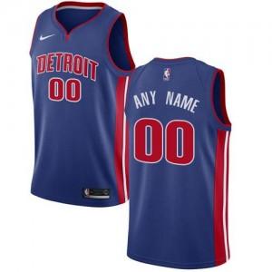 Nike NBA Maillot Personnalisé De Basket Detroit Pistons Homme Icon Edition Bleu royal