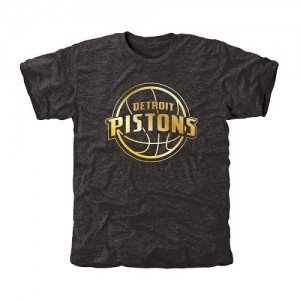 T-Shirt De Basket Detroit Pistons Gold Collection Tri-Blend Homme Noir