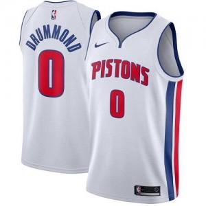 Nike NBA Maillots De Basket Andre Drummond Detroit Pistons No.0 Homme Blanc Association Edition