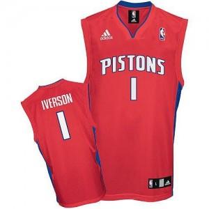 Adidas NBA Maillots De Allen Iverson Detroit Pistons Homme Rouge #1