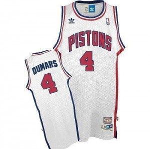 Adidas NBA Maillots De Basket Joe Dumars Detroit Pistons Throwback Homme #4 Blanc