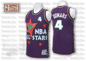 Maillot De Basket Dumars Pistons Adidas Homme Violet #4 1995 All Star Throwback