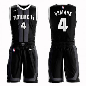 Nike NBA Maillots Joe Dumars Detroit Pistons Enfant Suit City Edition Noir No.4