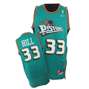 Nike Maillot Grant Hill Pistons Throwback Homme vert No.33
