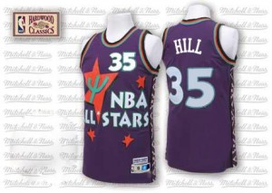 Maillot Grant Hill Detroit Pistons 1995 All Star Throwback Homme Adidas #35 Violet