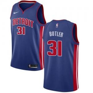 Nike NBA Maillot Butler Pistons Bleu royal No.31 Icon Edition Homme
