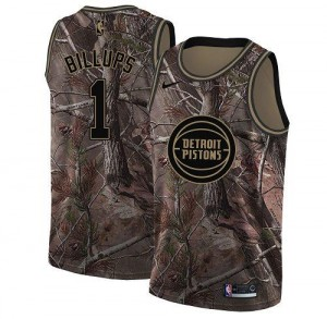 Nike Maillots Chauncey Billups Detroit Pistons No.1 Enfant Realtree Collection Camouflage