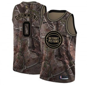 Maillot De Drummond Pistons Camouflage Nike #0 Realtree Collection Homme