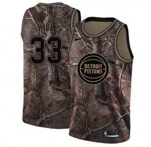 Maillot Grant Hill Detroit Pistons #33 Camouflage Homme Realtree Collection Nike