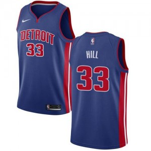 Maillot De Hill Detroit Pistons Enfant Icon Edition Nike Bleu royal No.33
