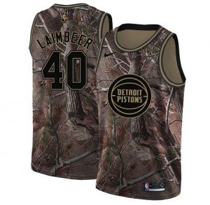 Nike NBA Maillots Bill Laimbeer Pistons Camouflage Realtree Collection Homme #40