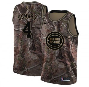 Nike NBA Maillots Joe Dumars Pistons #4 Camouflage Enfant Realtree Collection