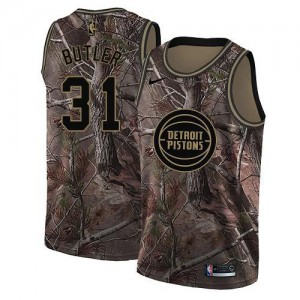 Nike NBA Maillot Basket Caron Butler Pistons Realtree Collection Homme #31 Camouflage