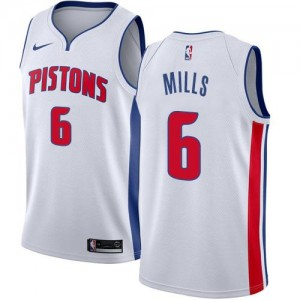Nike NBA Maillots Basket Terry Mills Pistons No.6 Blanc Enfant Association Edition