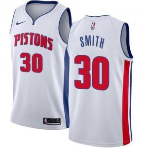 Nike NBA Maillots De Basket Joe Smith Detroit Pistons Blanc No.30 Association Edition Enfant
