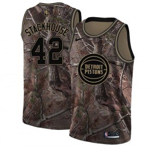 Nike Maillot Stackhouse Pistons Camouflage No.42 Homme Realtree Collection