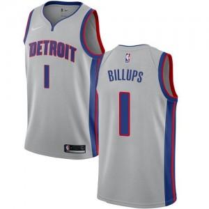Nike NBA Maillots Basket Billups Pistons Argent Enfant No.1 Statement Edition