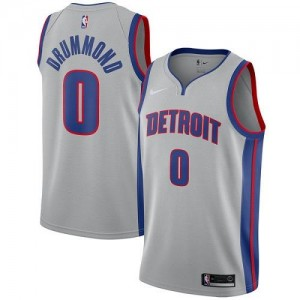 Nike NBA Maillot Andre Drummond Detroit Pistons #0 Argent Statement Edition Homme