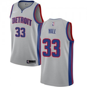 Nike NBA Maillots De Grant Hill Pistons Enfant Argent No.33 Statement Edition