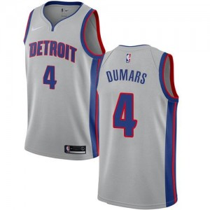 Nike NBA Maillots De Basket Joe Dumars Pistons Homme Statement Edition #4 Argent