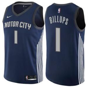 Nike Maillot Billups Detroit Pistons bleu marine #1 Homme City Edition
