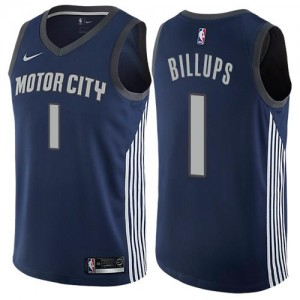 Nike NBA Maillots Basket Chauncey Billups Pistons bleu marine Enfant No.1 City Edition
