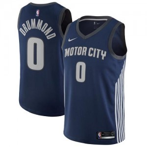 Maillots Drummond Pistons bleu marine Nike Homme #0 City Edition