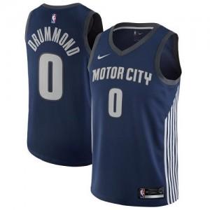 Nike NBA Maillot De Andre Drummond Detroit Pistons bleu marine City Edition No.0 Enfant