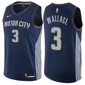 Nike NBA Maillot Ben Wallace Detroit Pistons Enfant #3 bleu marine City Edition