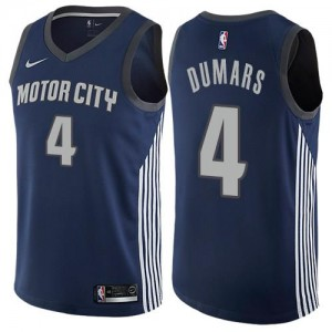 Maillots Basket Joe Dumars Pistons City Edition Nike No.4 Enfant bleu marine