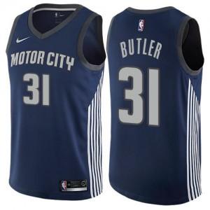 Nike Maillot De Caron Butler Detroit Pistons No.31 City Edition bleu marine Homme