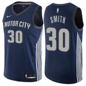 Nike NBA Maillot Smith Detroit Pistons Enfant bleu marine #30 City Edition