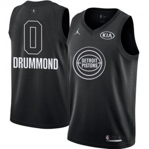 Maillot Basket Andre Drummond Pistons 2018 All-Star Game No.0 Homme Nike Noir