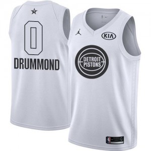Nike Maillots Andre Drummond Pistons 2018 All-Star Game #0 Homme Blanc