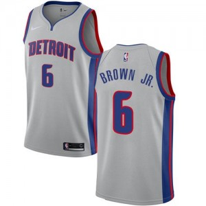 Nike NBA Maillot Bruce Brown Jr. Pistons No.6 Statement Edition Argent Homme