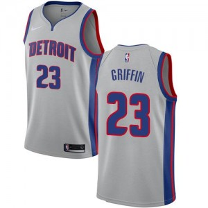 Nike Maillots Basket Blake Griffin Pistons Argent No.23 Homme Statement Edition
