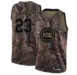 Maillots De Basket Blake Griffin Detroit Pistons No.23 Nike Realtree Collection Camouflage Homme