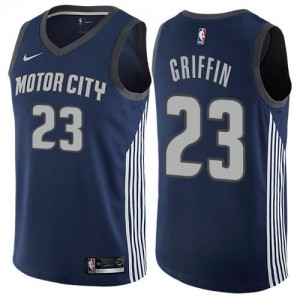 Maillot De Blake Griffin Detroit Pistons City Edition No.23 bleu marine Nike Homme