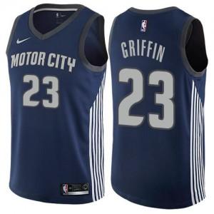 Maillot De Griffin Detroit Pistons bleu marine Nike #23 City Edition Enfant