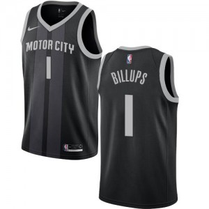 Nike NBA Maillots De Billups Pistons Noir City Edition No.1 Enfant