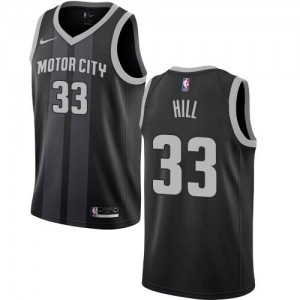 Maillot Basket Grant Hill Pistons No.33 Enfant Nike Noir City Edition