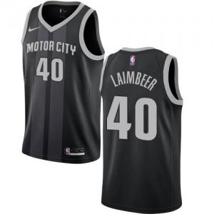 Maillot De Basket Laimbeer Pistons Nike City Edition Enfant No.40 Noir