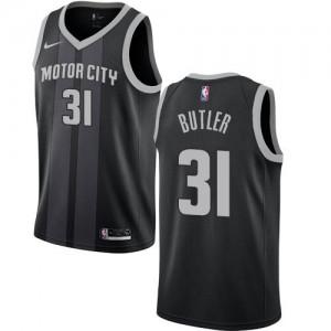Nike NBA Maillots Basket Butler Detroit Pistons Noir No.31 City Edition Homme