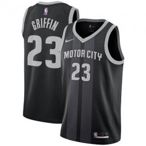 Nike NBA Maillots De Blake Griffin Detroit Pistons City Edition #23 Noir Enfant