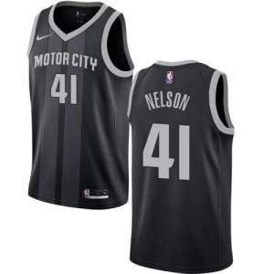 Maillot Basket Nelson Detroit Pistons #41 City Edition Nike Enfant Noir