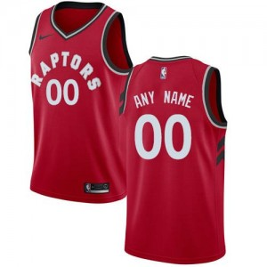 Nike Maillot Personnalise De Basket Toronto Raptors Rouge Icon Edition Enfant