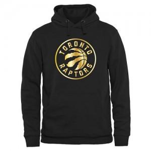 NBA Sweat à capuche Raptors Noir Gold Collection Pullover Homme
