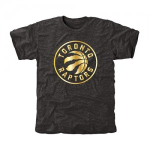 Tee-Shirt De Basket Toronto Raptors Gold Collection Tri-Blend Homme Noir