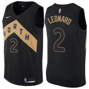 Maillots De Leonard Toronto Raptors No.2 Nike Enfant Noir City Edition