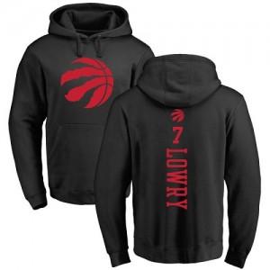 Sweat à capuche Kyle Lowry Raptors Nike Homme & Enfant #7 Pullover Backer noir une couleur